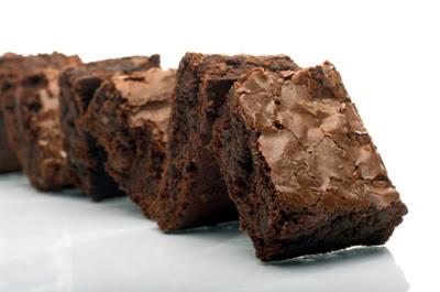 Brownies de chocolate y caramelo