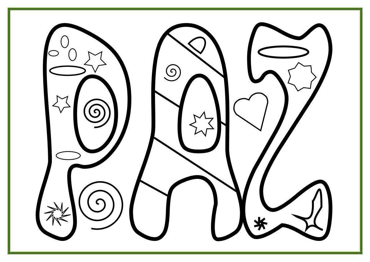 Banco de Imagenes y fotos gratis: Dibujos Dia de la Paz para Pintar ...