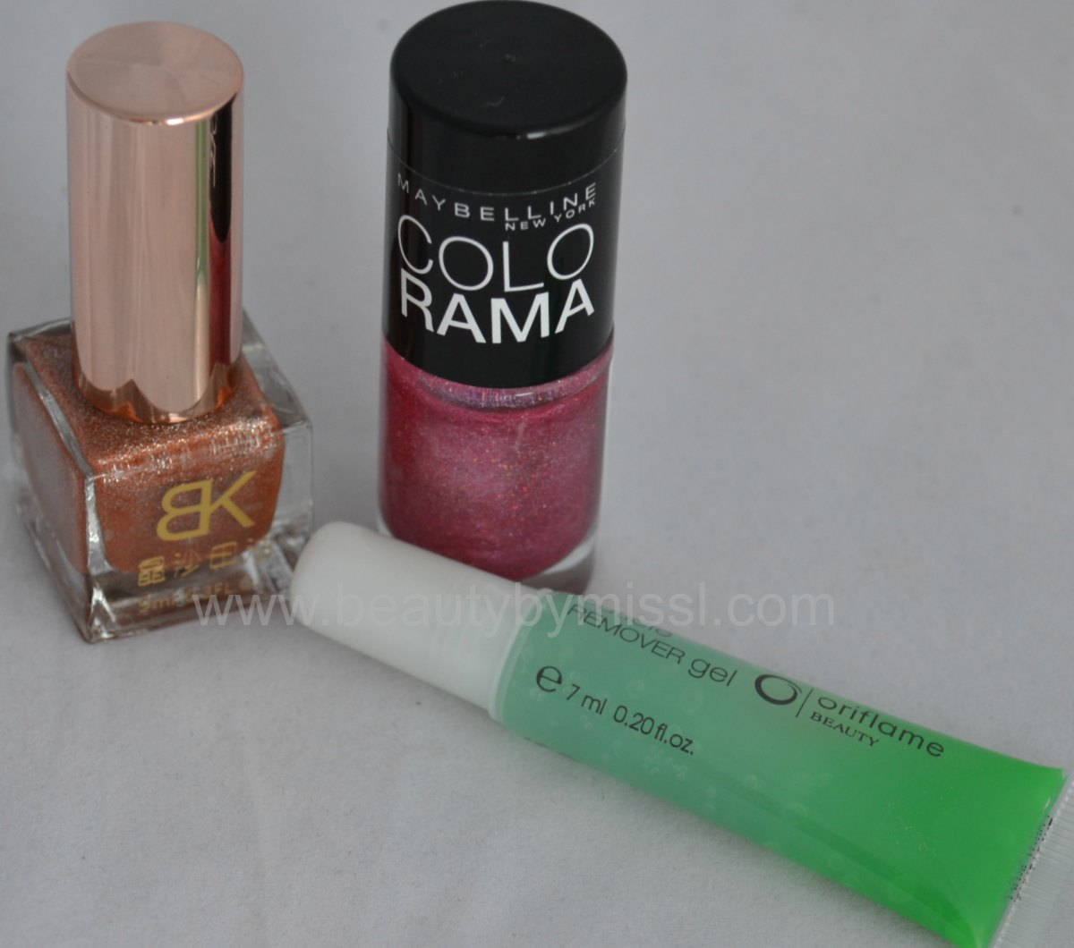 born pretty store nail polish, oriflame cuticle remover, maybelline colorama nail polish