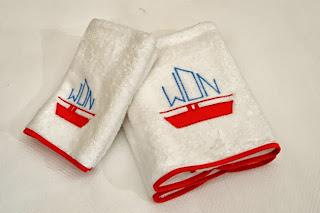 Nautical Monograms: Leontine Linens