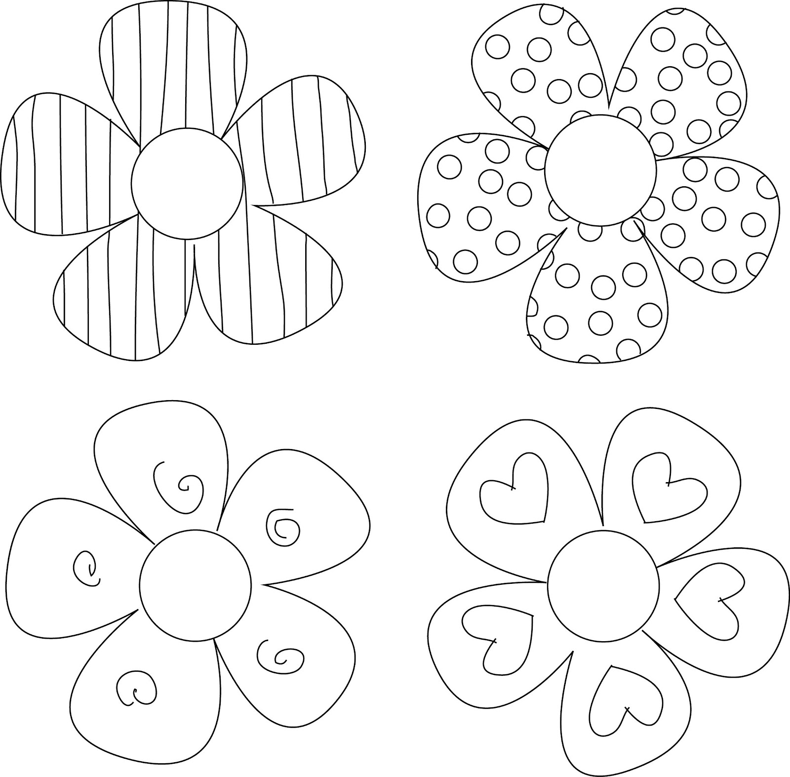 Exceptional image inside printable flower patterns