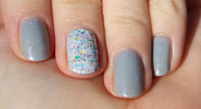 Illamasqua raindrops swatch and china glaze it's a trap-eze! nail swatch