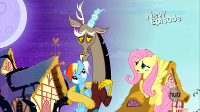 Discord in the twilit Ponyville
