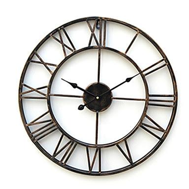 Reloj de Pared Rústico Numerales Romanos