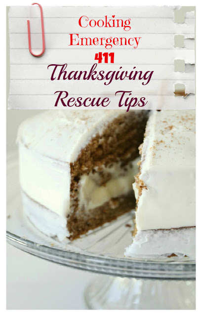 thanksgiving rescue tips