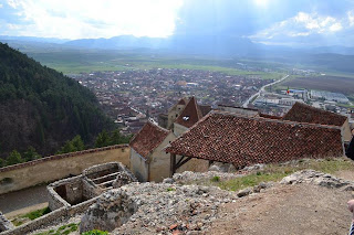 Rasnov seen from Rasnov Fortress