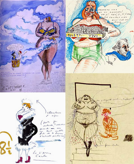 Fellini's drawings
