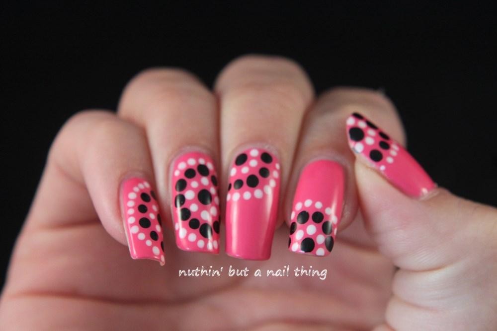 Models Own Gumballs- Polka dot nail art