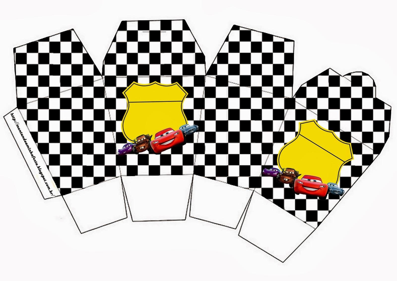 """Caja Gratis de Cars tipo """"para comida china""""."""