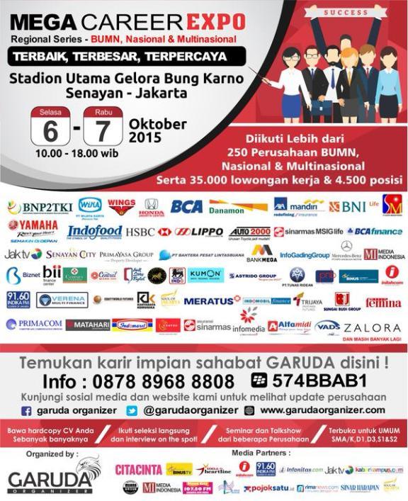 Jadwal job Fair di Jakarta Oktober 2015