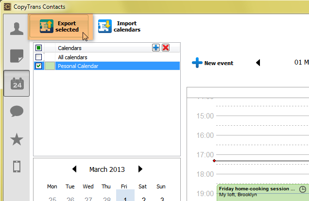 iphone calendar to outlook pc