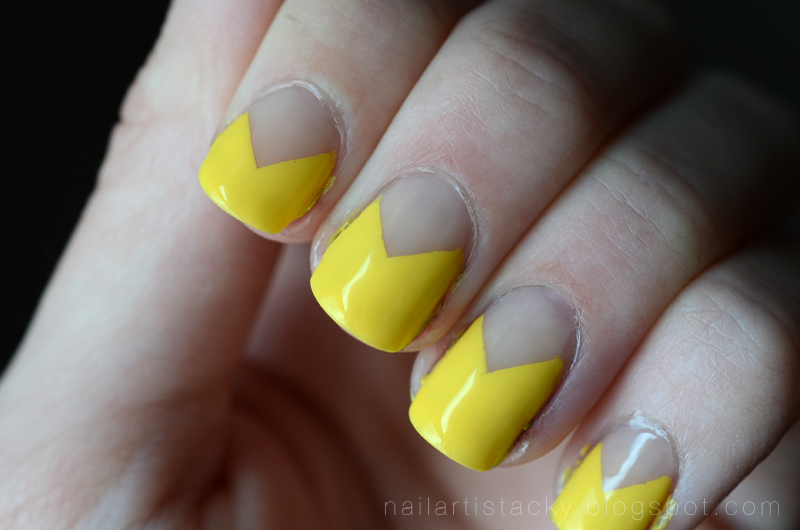 Zoya Pippa - Nail Art - Yellow Nail Polish