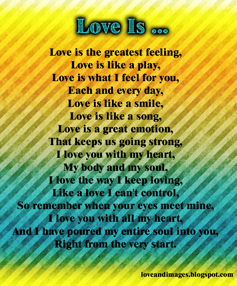Love and Images: 5 Beautiful Love Poems