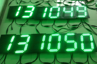 led sign, led time temperature sign