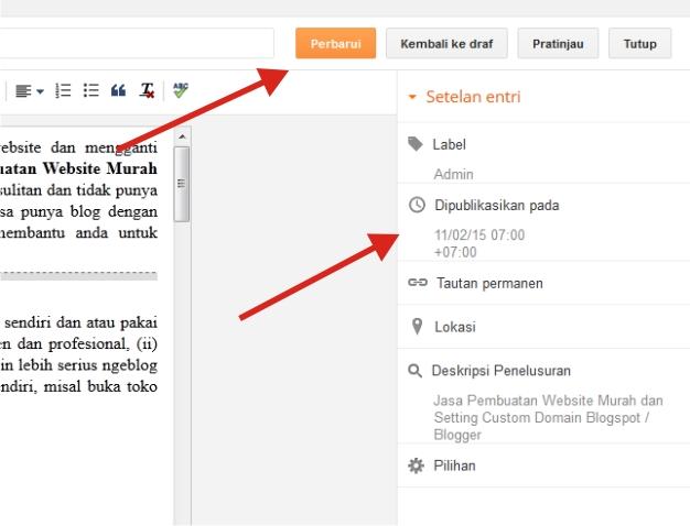 Cara Agar Postingan Selalu Ada di Homepage Blog