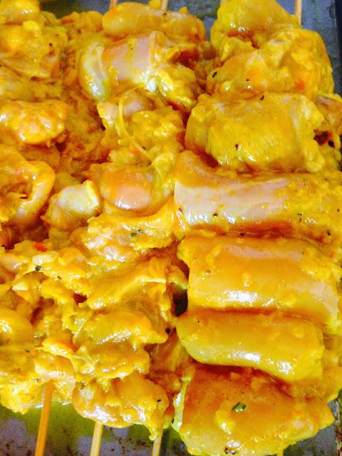Joojeh kebabs - Persian chicken skewers