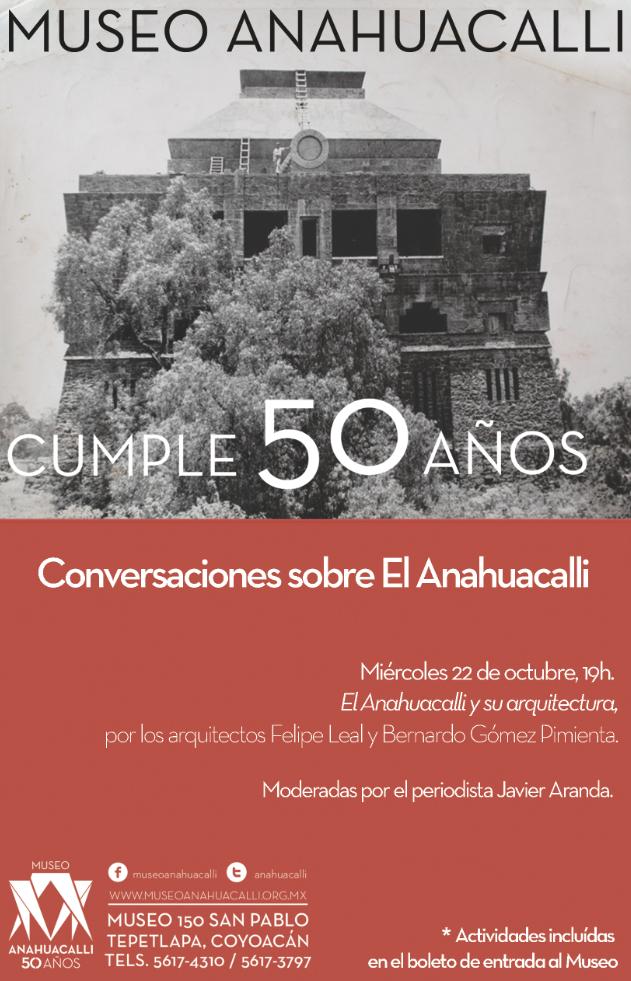 El Anahuacalli y su arquitectura, conferencia por los 50 años del museo