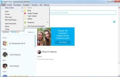 daftar skype  cara menggunakan skype di facebook