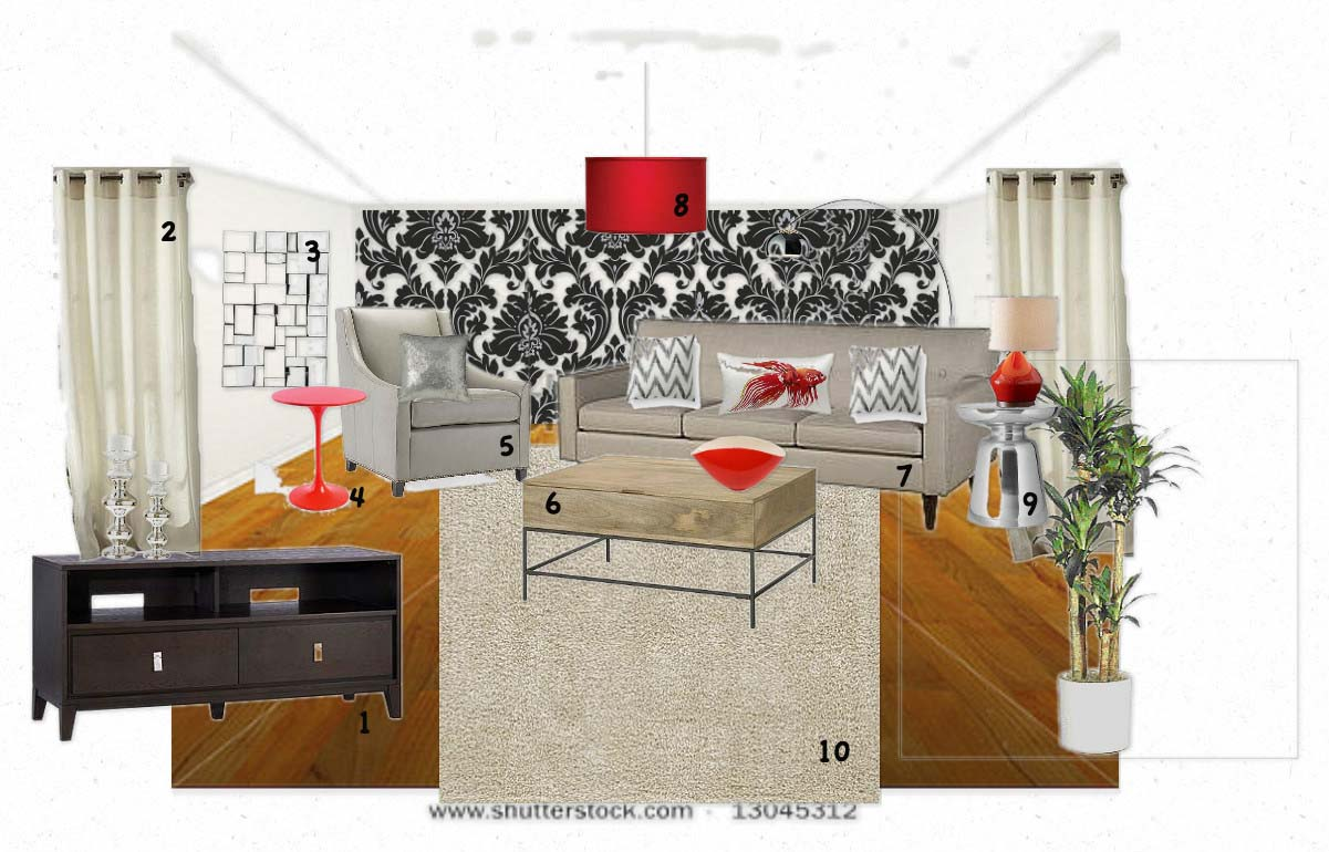 Adventures in creating a modern college apartment design for Apartment number design
