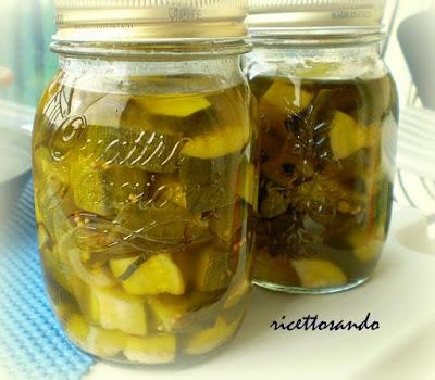 Zucchine sott'olio ricetta di verdure conservate