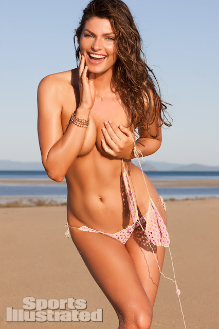 Alyssa Miller Covered Topless - Sports Illustrated 2013 Swimsuit Issue