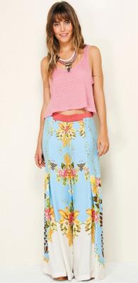 calça pantalona Farm verão 2014