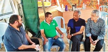 Gilberto Gil e Caetano Veloso em Susya na Palestina