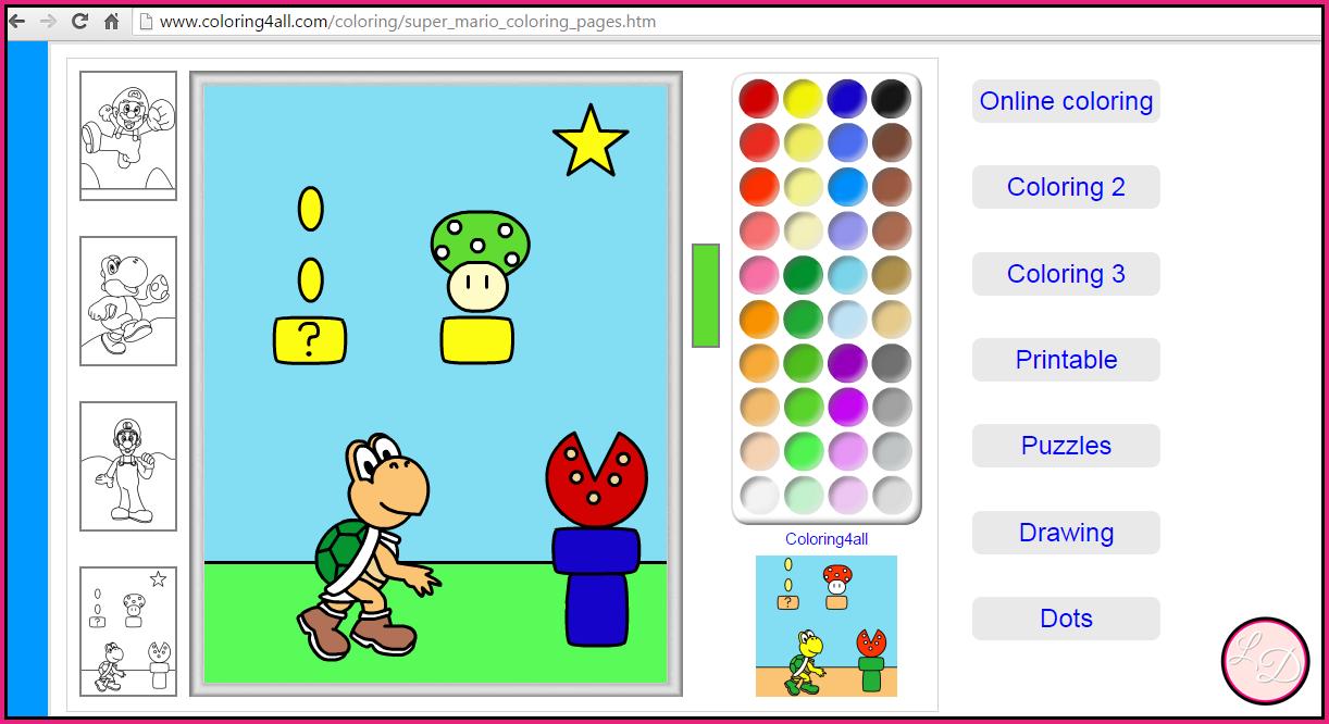 Chiquereza: Desenhos para colorir - lista de sites para colorir online