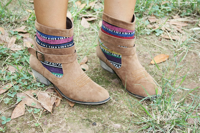 Ethnic boots outfit
