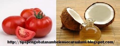 Minyak kelapa dan tomat untuk mengobati ambeien
