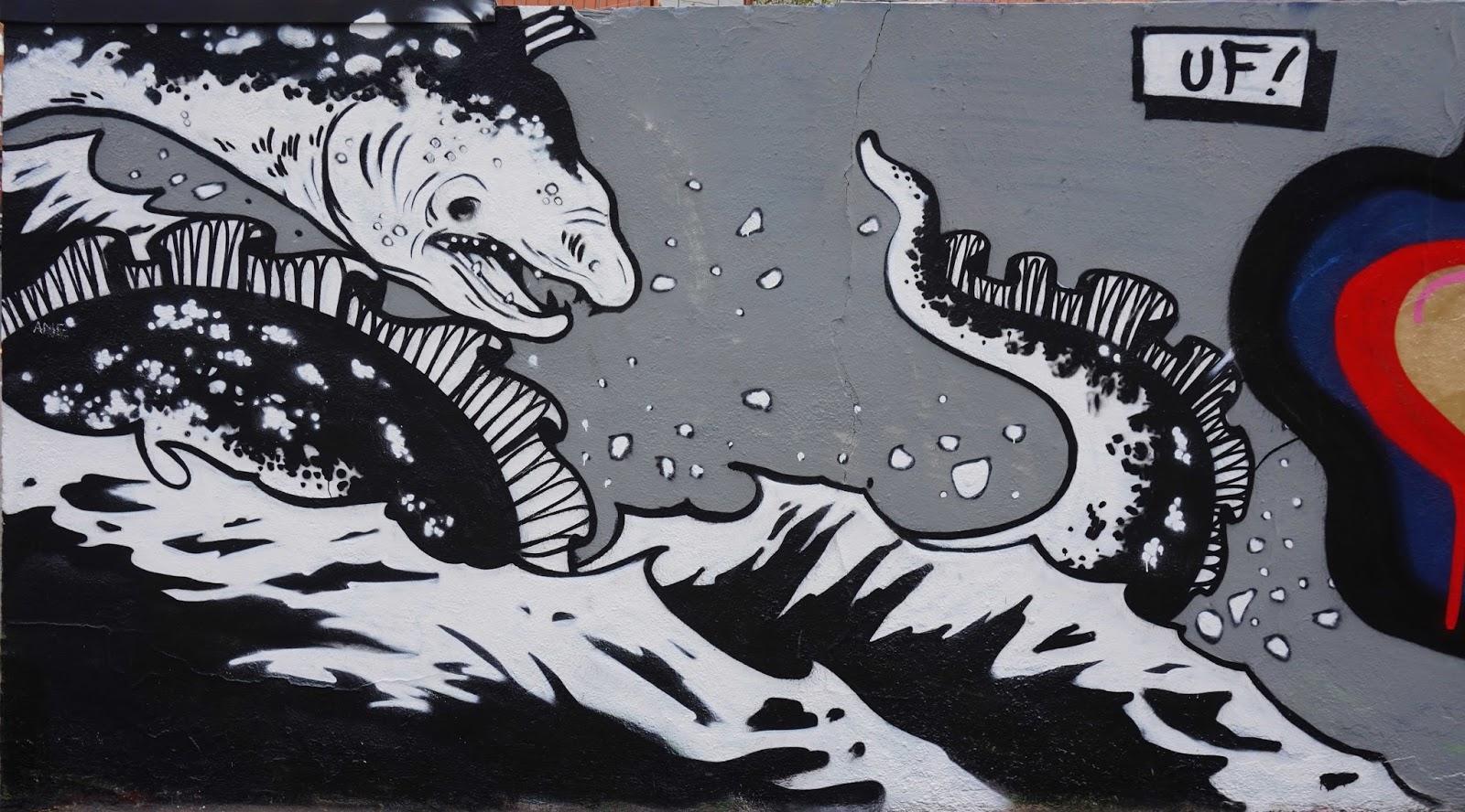 Barcelona Street Art - Sea monster