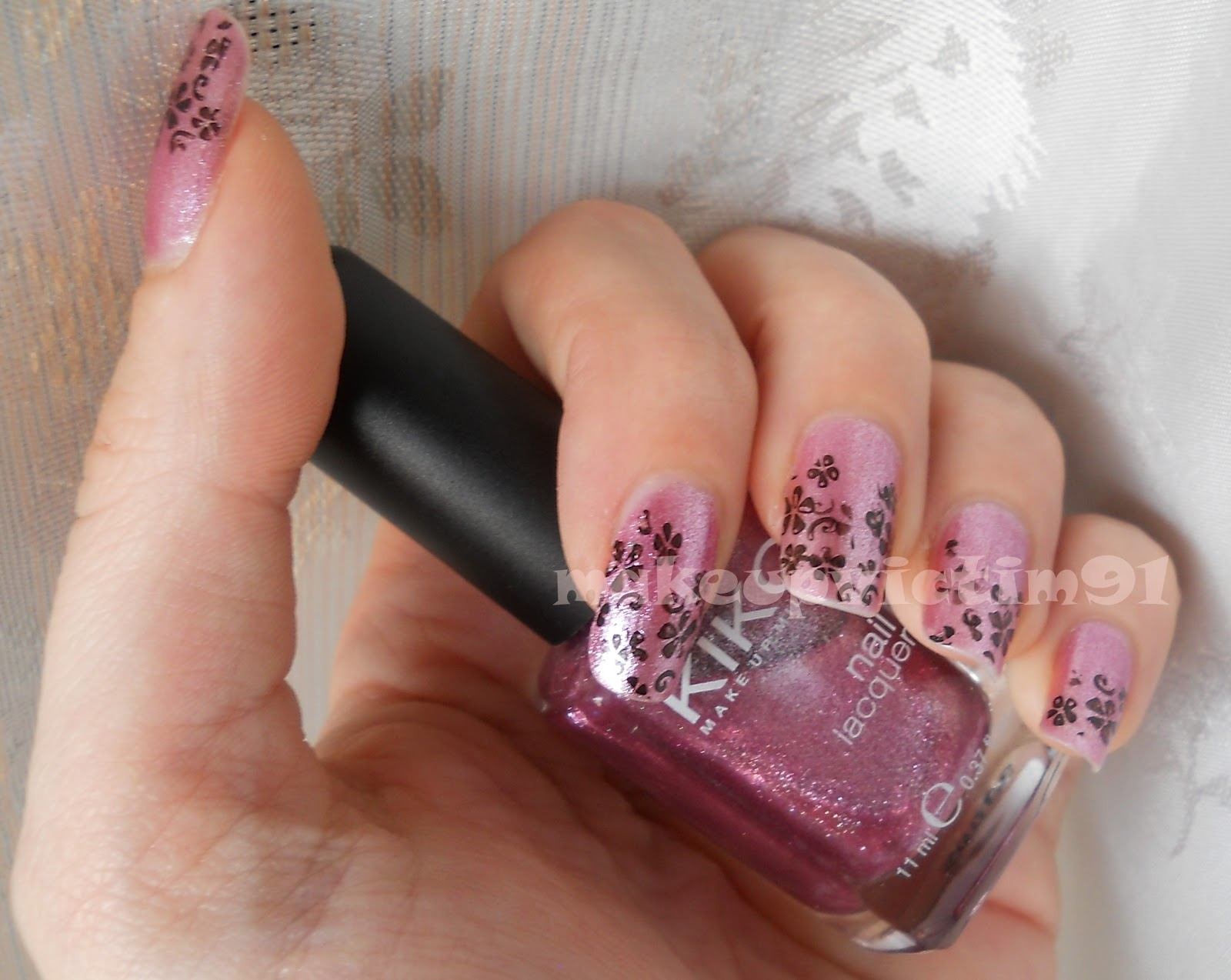Macef Eventi Fatto Ad Arte Art Flowers : Nail art black flower makeup victim