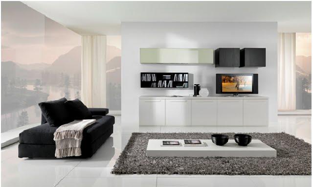 Decoraci n minimalista y contempor nea decoraci n de for Casa minimalista interior negro