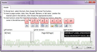 Set Print Titles : Header dan Footer di Excel 2010