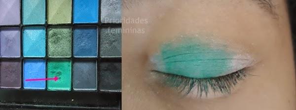 maquiagem verde natal