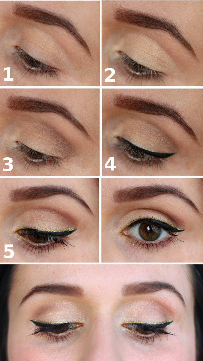 easy gold eyeliner tutorial