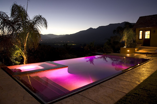 Photo of the pool overlooking Ojai Valley
