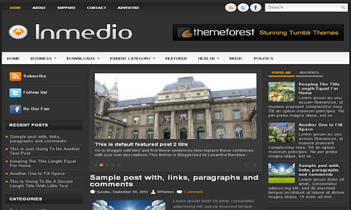 Inmedio Blogger Template