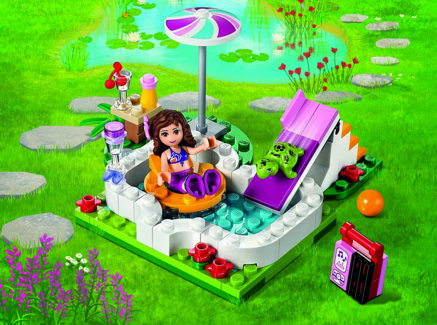 Brick friends lego 41090 olivia 39 s garden pool for Lego friends olivia s garden pool 41090