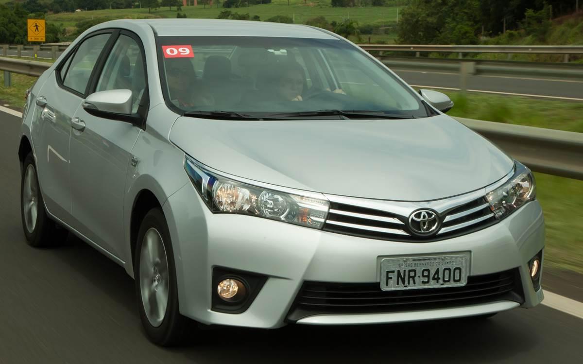Toyota Corolla - 9º veículo mais vendido do Brasil - abril