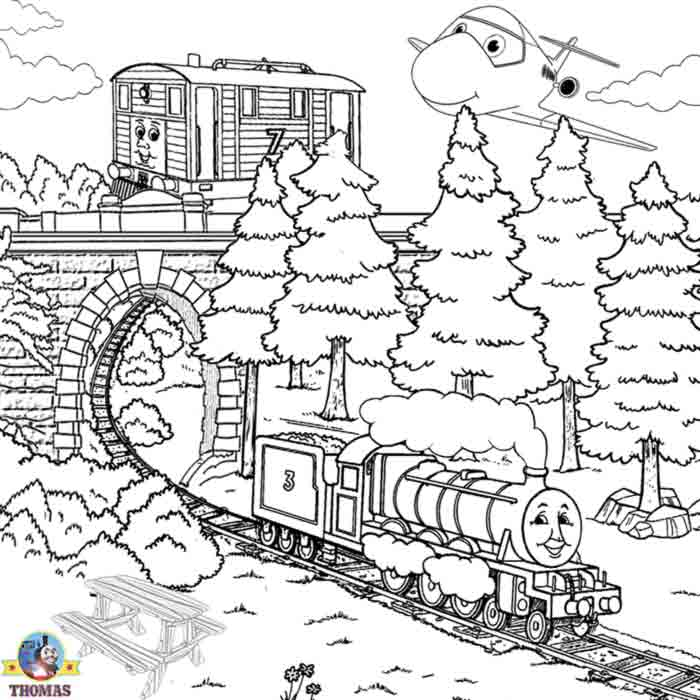 Boys train pictures of Thomas colouring pages to print for children  title=