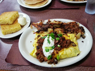 chili-cheese omelet