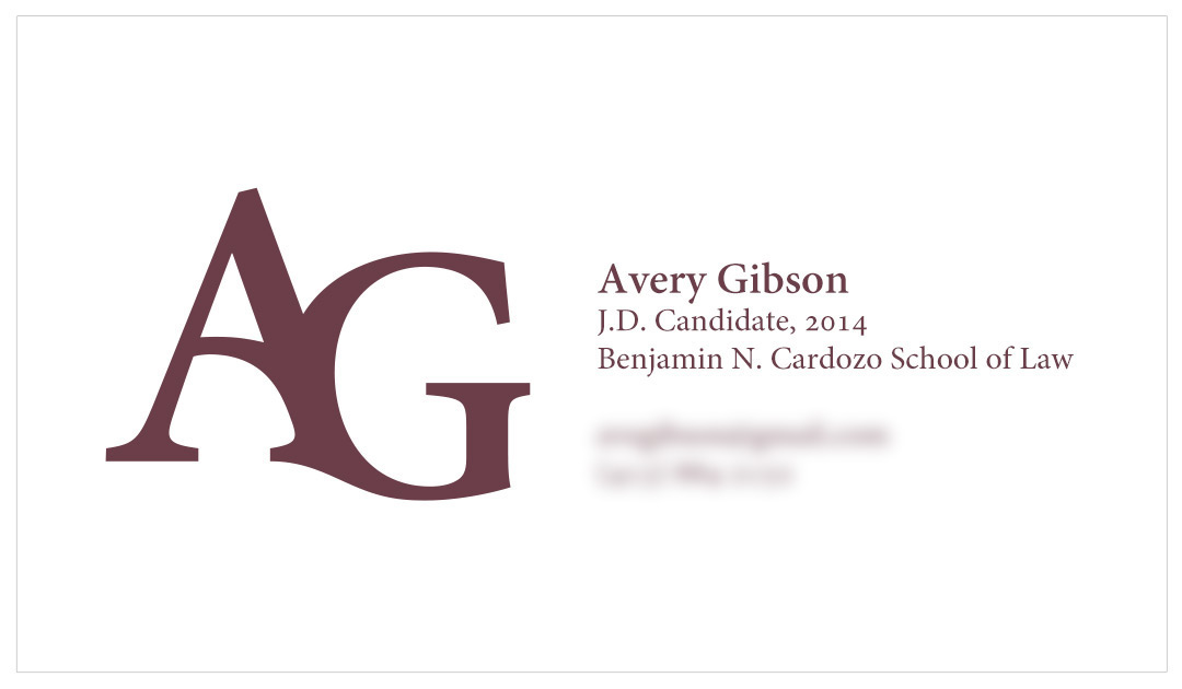 Avery Gibson Business Card | THEMICHAELCOOK
