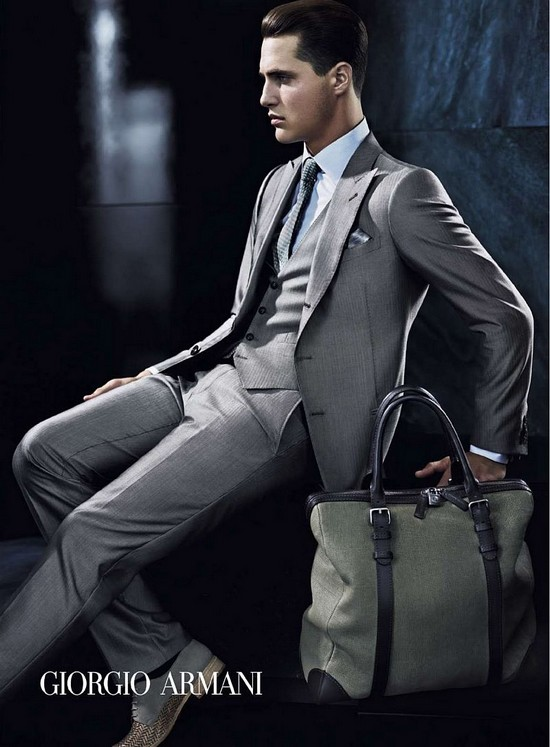 Men's brand Armani with Giorgio Armani and Emporio Armani