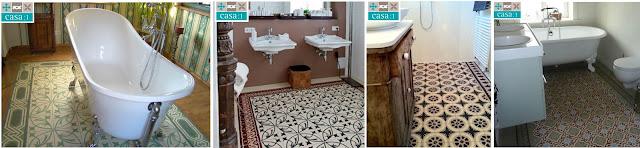 Casa:1 Zementfliesen Kundenbeispiele Bad & WC