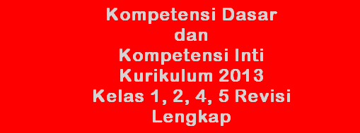 Download Kompetensi Dasar (KD) dan Inti (KI) Kurikulum 2013 kelas 1, 2, 4, 5 SD Lengkap Versi Word (.doc)