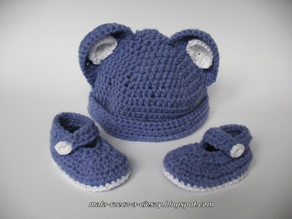 Własnoręcznie tworzę wyprawkę dla dziecka - szydełkowe buciki i czapeczka