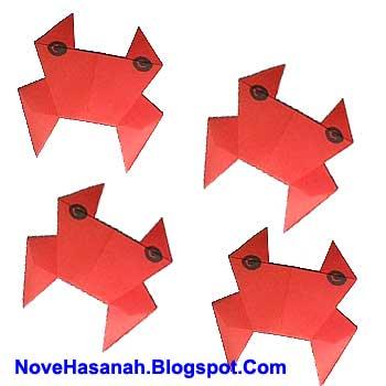 cara membuat origami yang mudah untuk anak TK, SD, dan pemula berbentuk kepiting