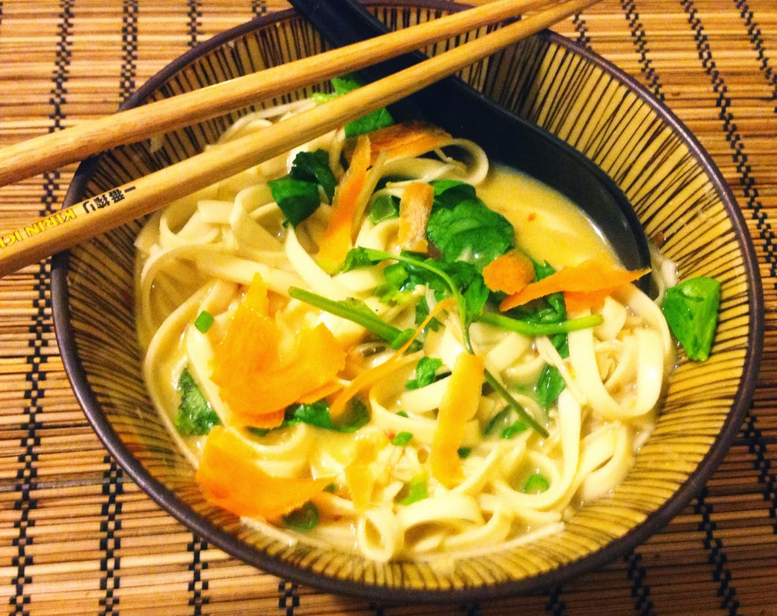 Vegan Lemongrass Infused Soba Noodle Soup