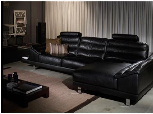 Decora y disena decoraci n de salas con sillones estilo - Sofa cuero negro ...